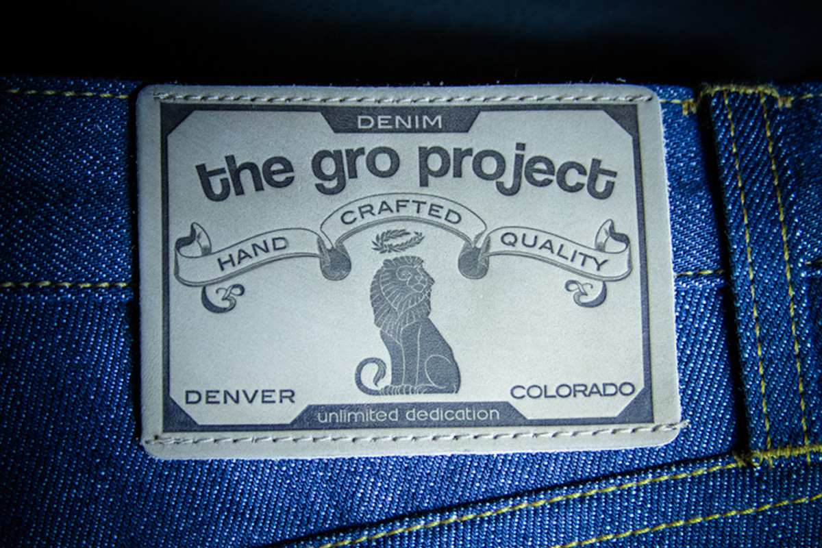 The GRO Project - Selvage Denim Leather Patch Design