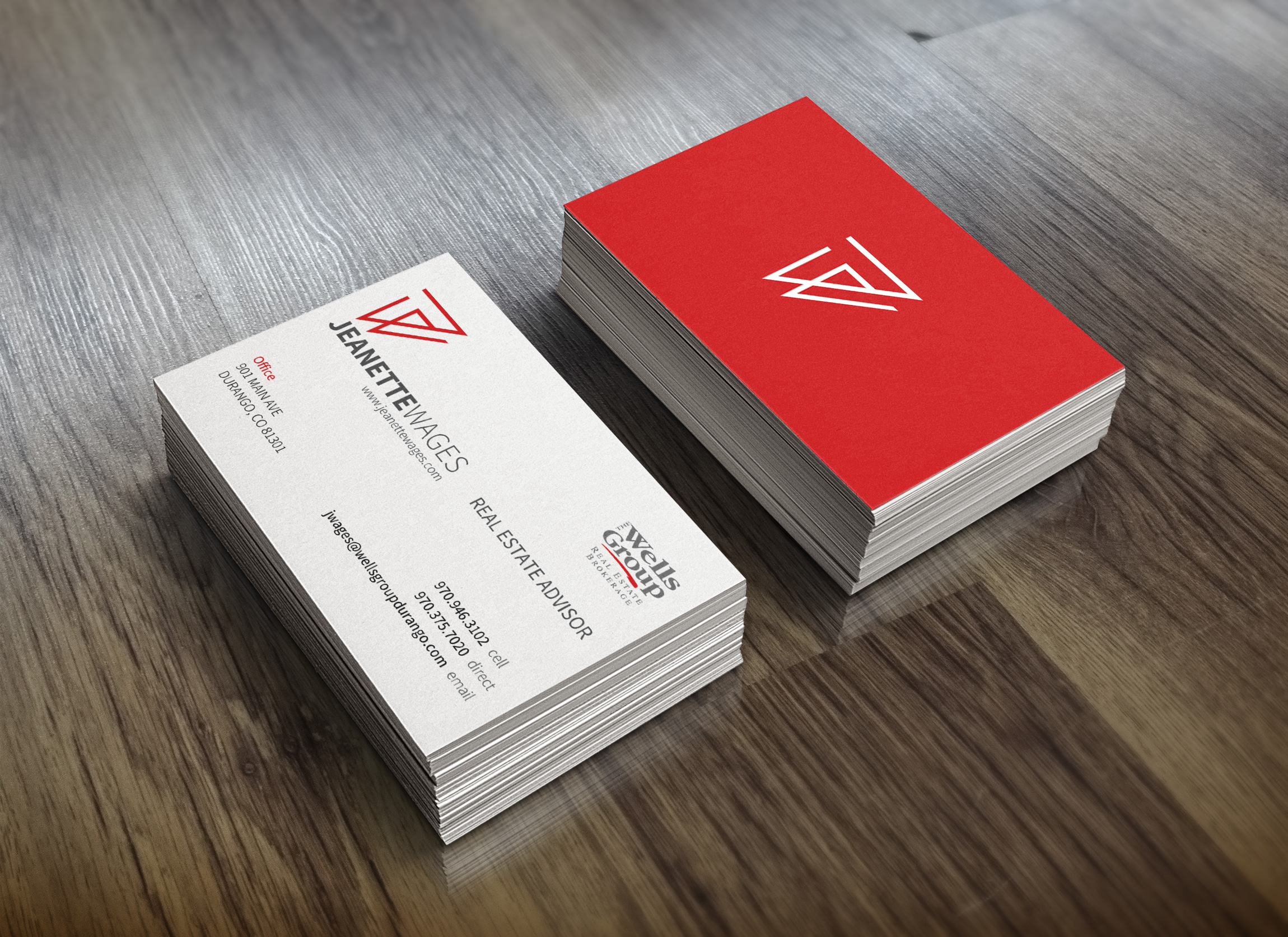 Jeanette Wages - Logo and Branding - Business Card Design