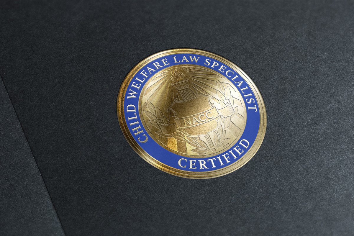 NACC Child Welfare Law Specialist Seal Embossed Sticker