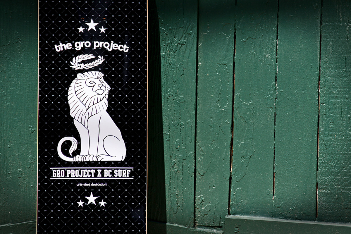 The GRO Project - Black Skate Deck