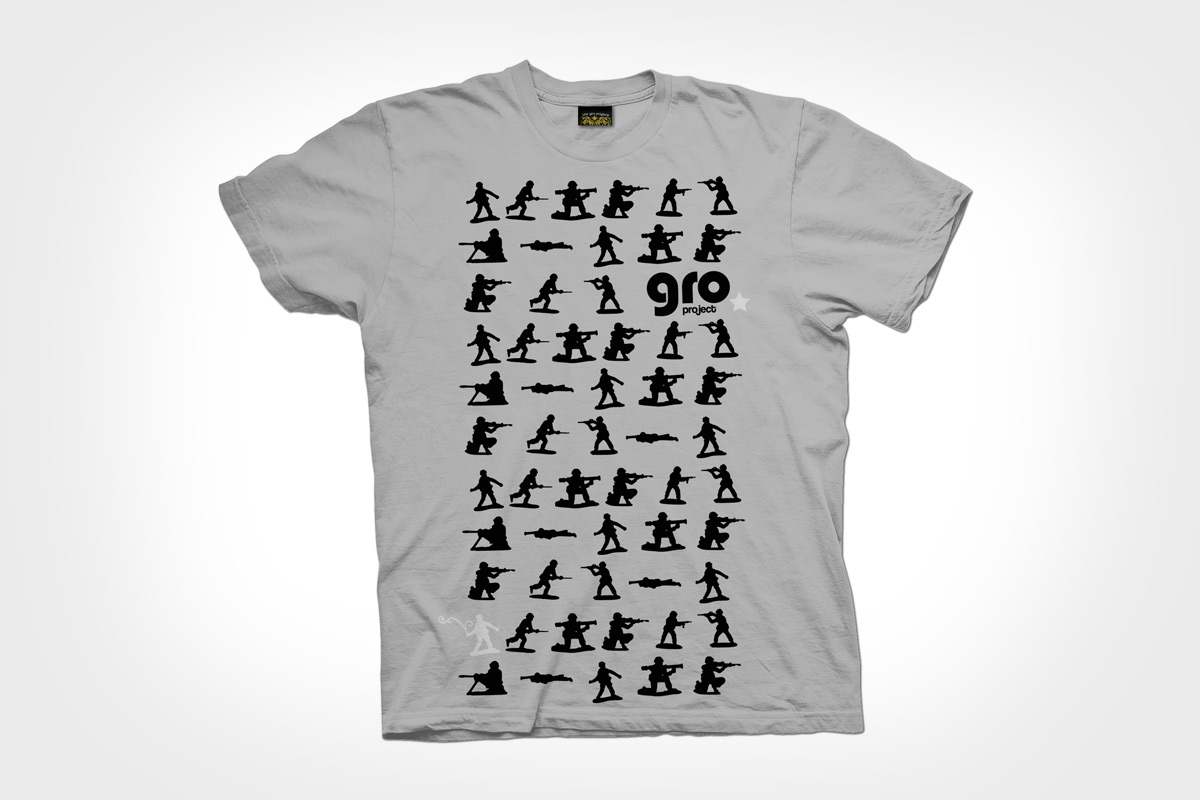 The GRO Project - T-shirt Design - Toy Soldiers