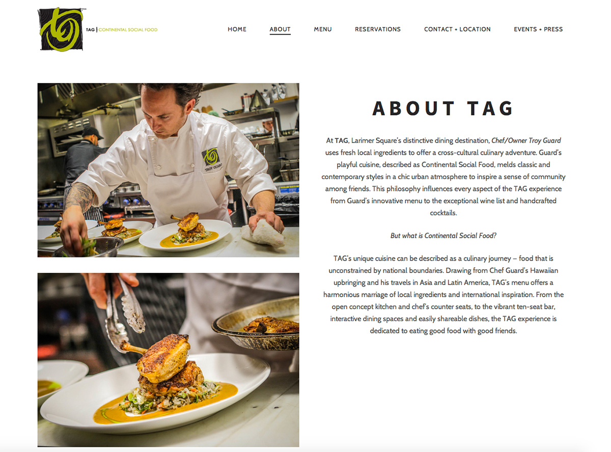 TAG Restaurant Group - About